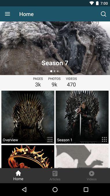 Скачать FANDOM for: GoT TV series на Андроид screen 2