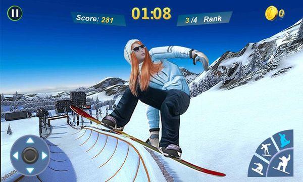 Скачать Мастер сноубординга 3D на Андроид — Русская версия screen 1