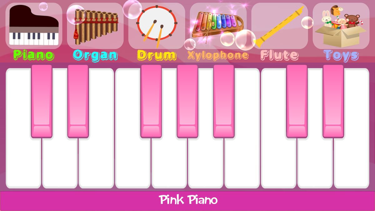 Скачать Pink Piano на Андроид screen 1
