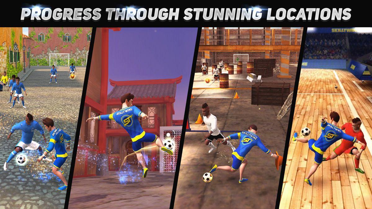 Скачать SkillTwins Football Game 2 на Андроид — Мод много денег screen 2