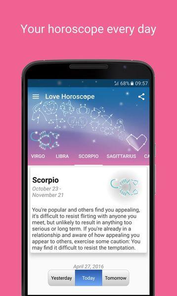 Скачать Love Horoscope на Андроид screen 1
