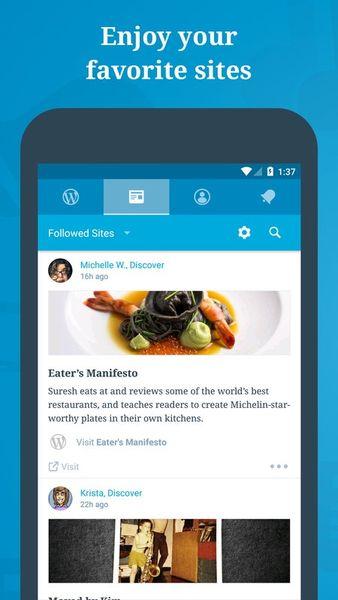Скачать WordPress на Андроид screen 1