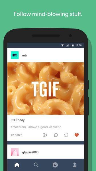 Скачать Tumblr на Андроид — Оптимизированная версия screen 1