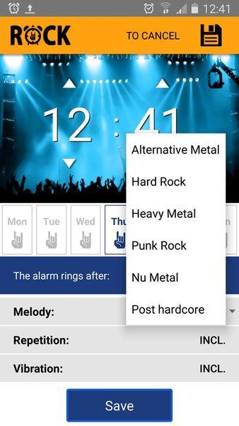 Скачать Рок Будильник на Андроид screen 1