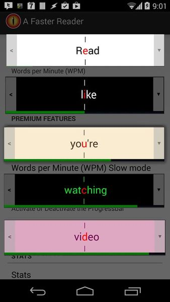 Скачать A Faster Reader на Андроид screen 1