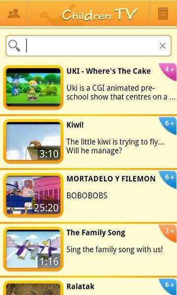 Скачать Children TV на Андроид screen 1