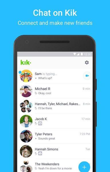 Скачать Kik на Андроид screen 1