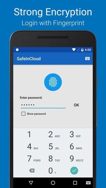 Скачать SafeInCloud Менеджер паролей на Андроид screen 1