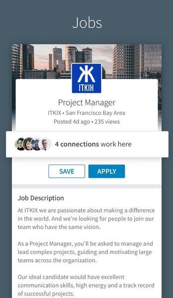 Скачать LinkedIn на Андроид screen 1