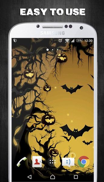 Скачать Halloween Live Wallpaper на Андроид screen 1