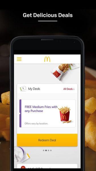 Скачать McDonald`s App на Андроид screen 1