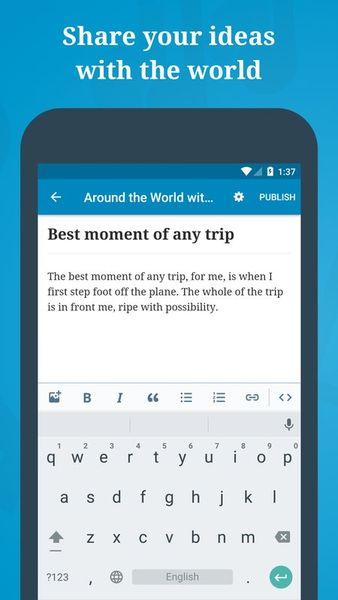 Скачать WordPress на Андроид screen 2
