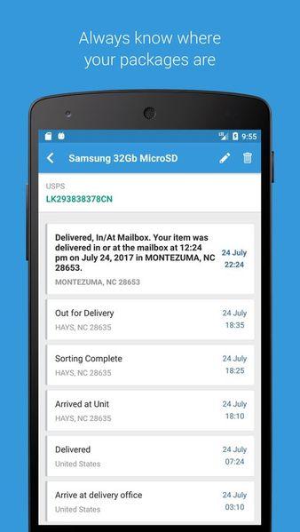 Скачать Посылки – Отслеживание Посылок с Алиэкспресс, Joom на Андроид screen 2