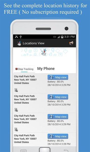 Скачать Отслеживание по номеру телефона на Андроид screen 2