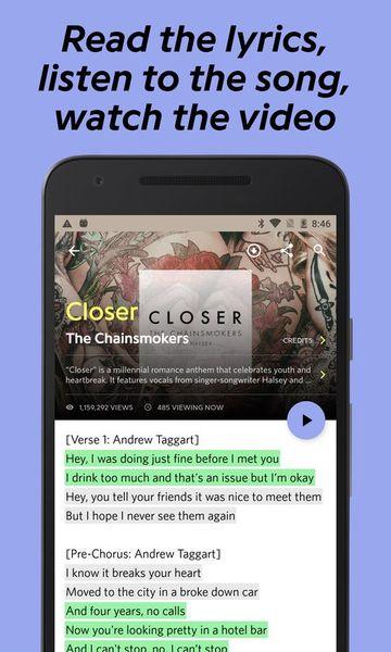 Скачать Genius: Song and Lyrics на Андроид screen 2