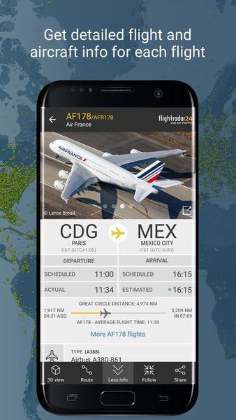 Скачать Flightradar 24 на Андроид screen 2