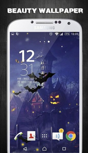 Скачать Halloween Live Wallpaper на Андроид screen 2