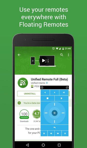 Скачать Unified Remote на Андроид — Русская версия screen 3