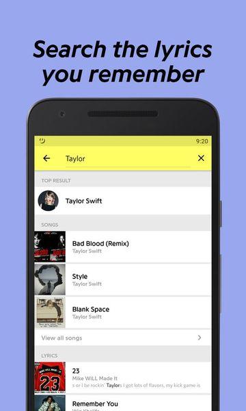 Скачать Genius: Song and Lyrics на Андроид screen 3