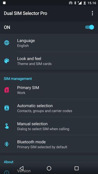 Скачать Dual SIM Selector на Андроид screen 1