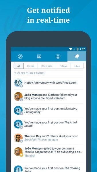 Скачать WordPress на Андроид screen 4