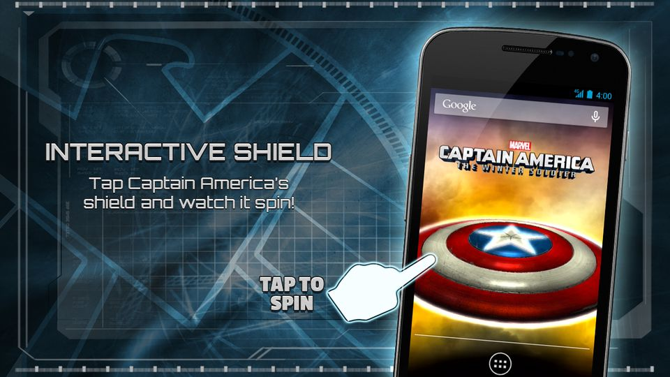Скачать Captain America: TWS Live WP на Андроид screen 3
