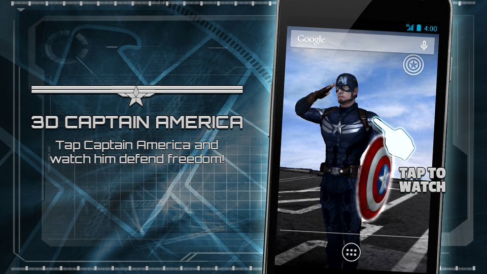 Скачать Captain America: TWS Live WP на Андроид screen 1