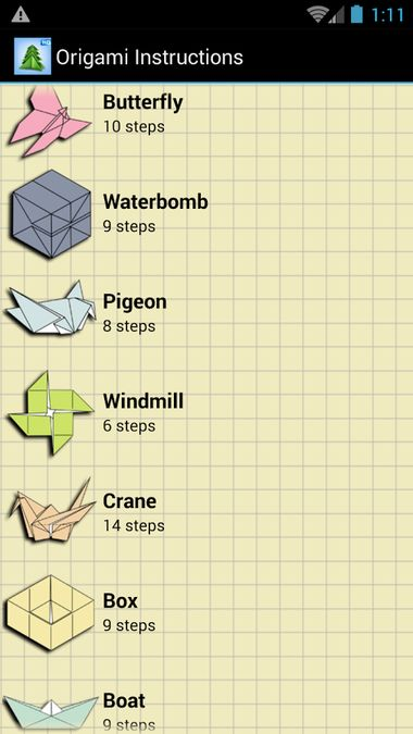 Скачать Cхемы Оригами на Андроид screen 1