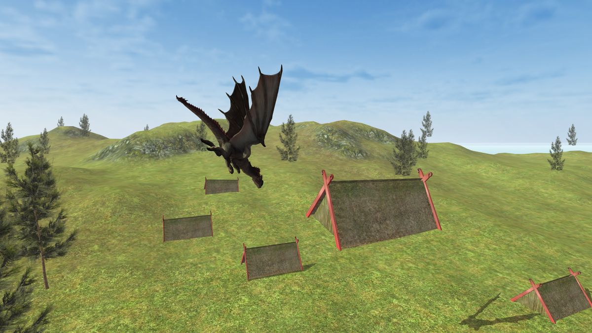 Скачать Flying Fury Dragon Simulator на Андроид screen 1