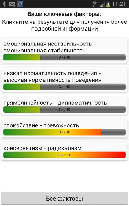Скачать Псиxoлогические тесты на Андроид screen 4
