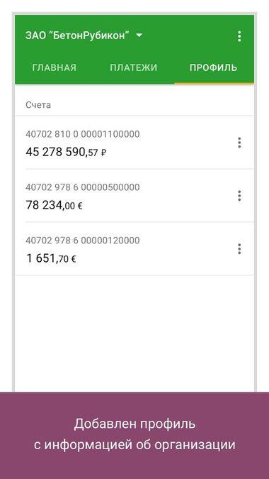 Скачать Сбербанк Бизнес Онлайн на Андроид screen 3