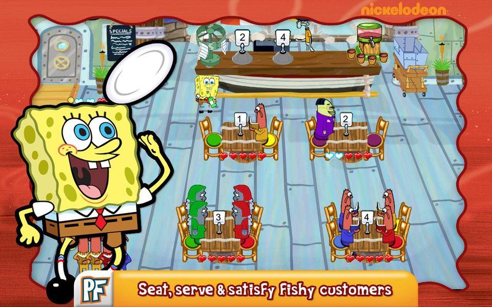 Скачать SpongeBob Diner Dash на Андроид screen 3