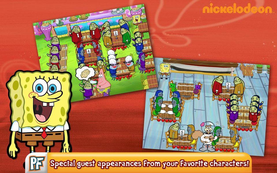 Скачать SpongeBob Diner Dash на Андроид screen 2
