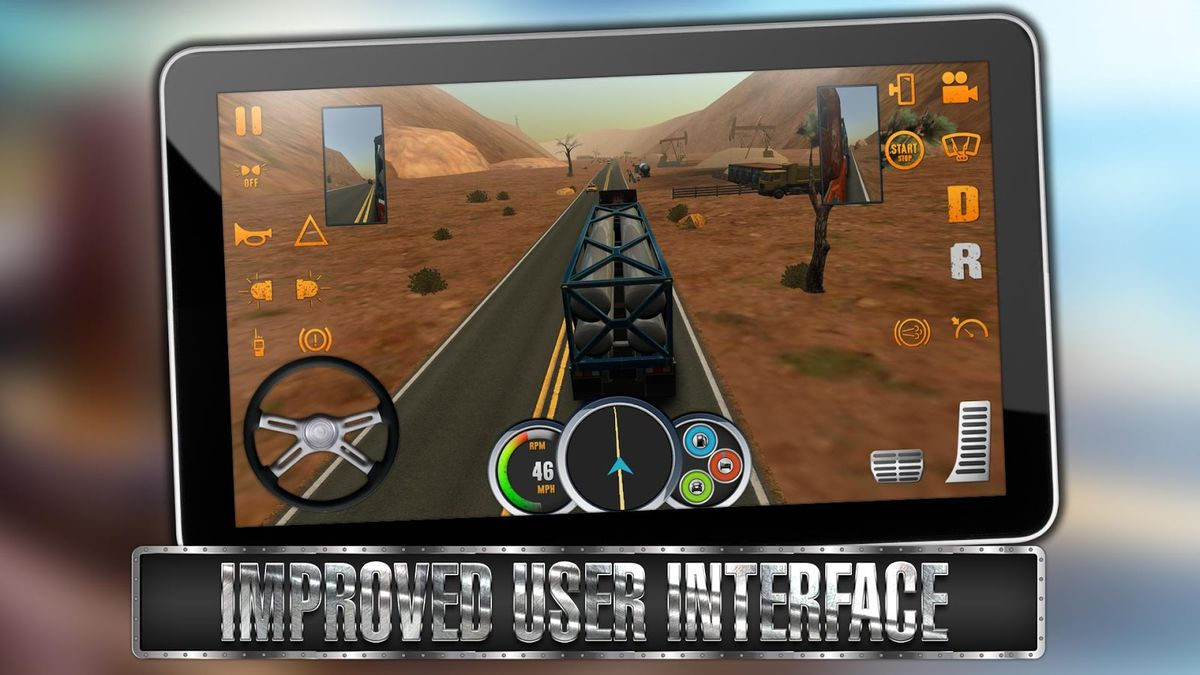 Скачать Truck Simulator USA на Андроид — Мод много денег screen 1