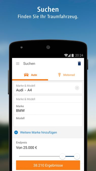 Скачать AutoScout24 на Андроид screen 1