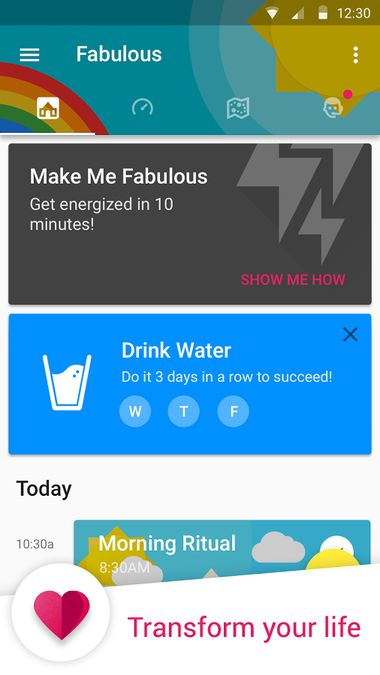 Скачать Fabulous: Motivate Me! Relax, Meditate, Sleep на Андроид screen 2