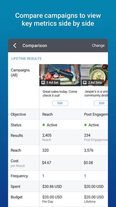 Скачать Facebook Ads Manager на Андроид screen 3