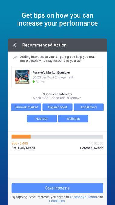 Скачать Facebook Ads Manager на Андроид screen 5