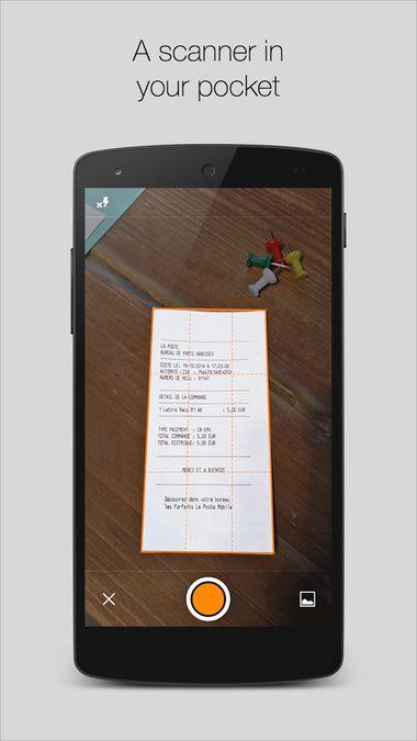 Скачать Genius Scan — PDF сканер на Андроид screen 1
