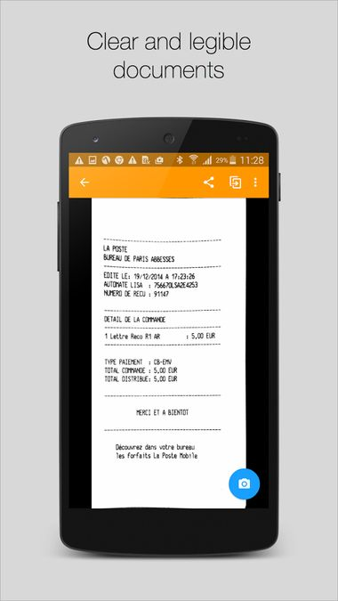 Скачать Genius Scan — PDF сканер на Андроид screen 2