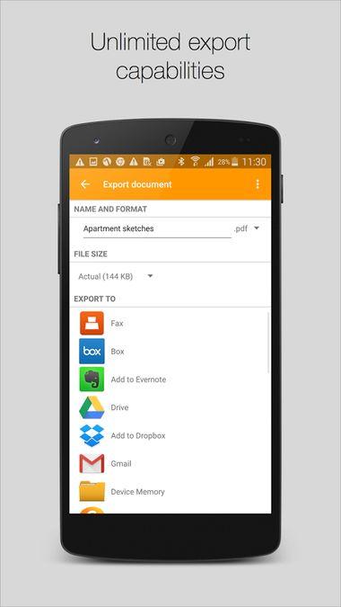 Скачать Genius Scan — PDF сканер на Андроид screen 3