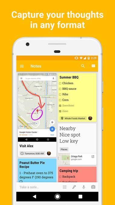 Скачать Google Keep на Андроид screen 1
