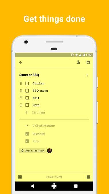 Скачать Google Keep на Андроид screen 2
