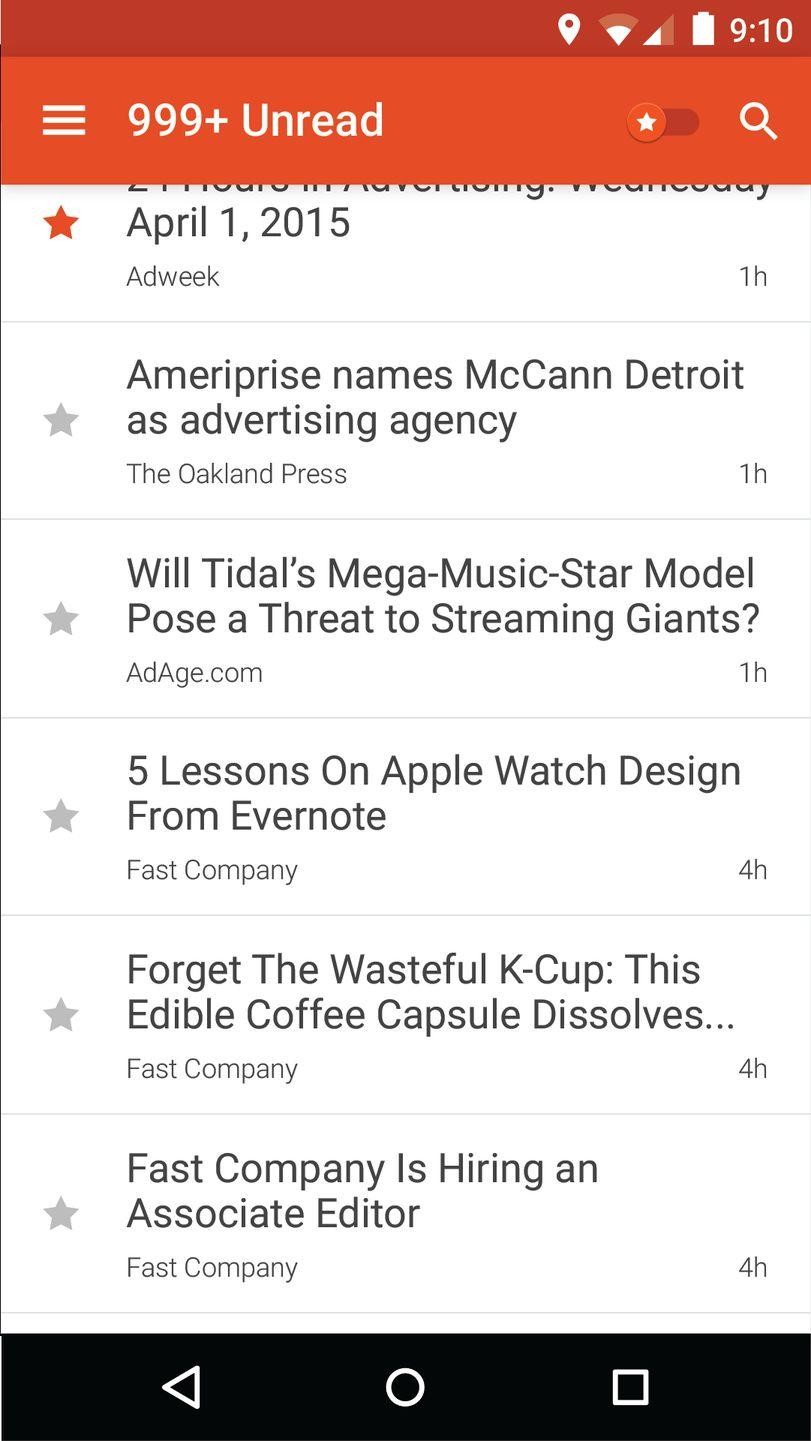Скачать Google Reader на Андроид — Русская версия screen 3