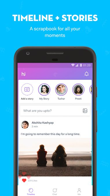 Скачать Hike messenger на Андроид screen 3