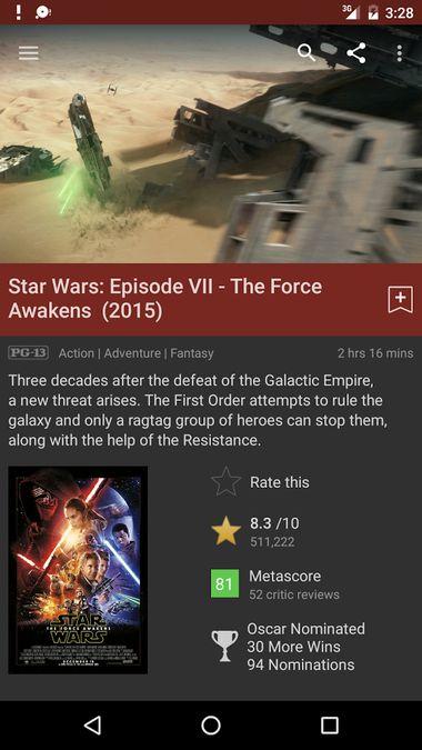 Скачать Internet Movie Database на Андроид screen 3