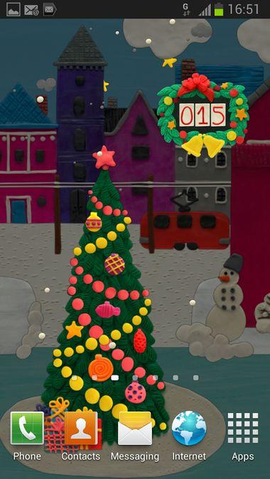 Скачать KM Рождественские Виджеты на Андроид screen 1