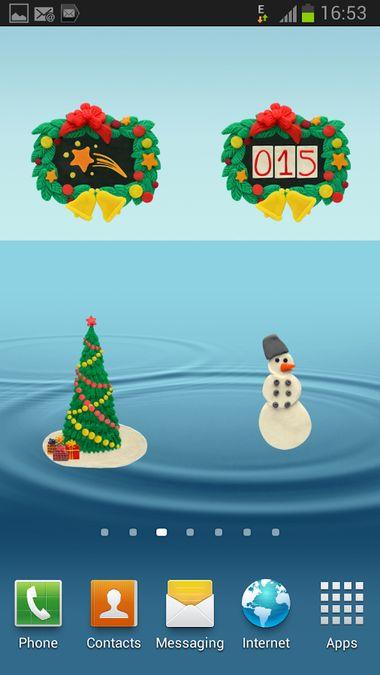 Скачать KM Рождественские Виджеты на Андроид screen 3