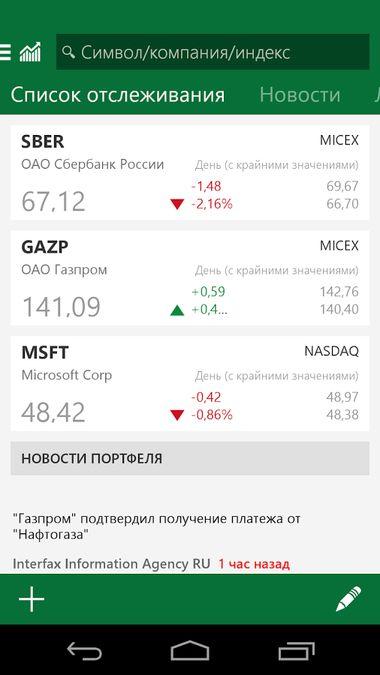 Скачать MSN Финансы на Андроид screen 3