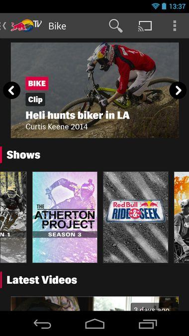 Скачать Red Bull TV на Андроид screen 1